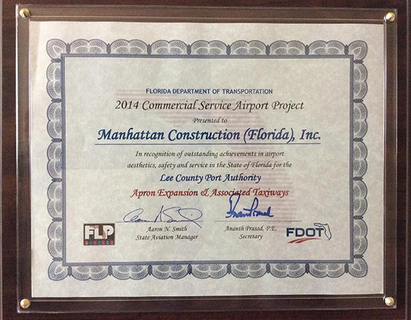 FDOT Award to Manhattan Construction