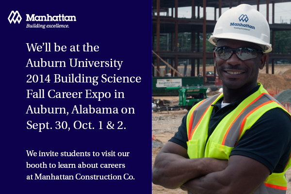 Manhattan Construction at Auburn University Career Fair