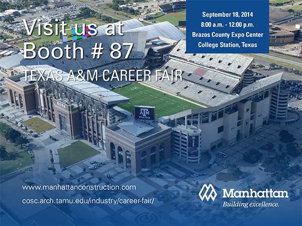 Texas A&M Career Fair Booth 87