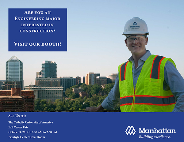 Manhattan Construction at The Catholic University of America Career Fair
