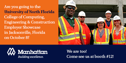 University of North Florida College of Computing, Engineering and Construction Employer Showcase on October 8